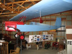 Airplane that designed, built and flown by area resident Cecil Goddard.